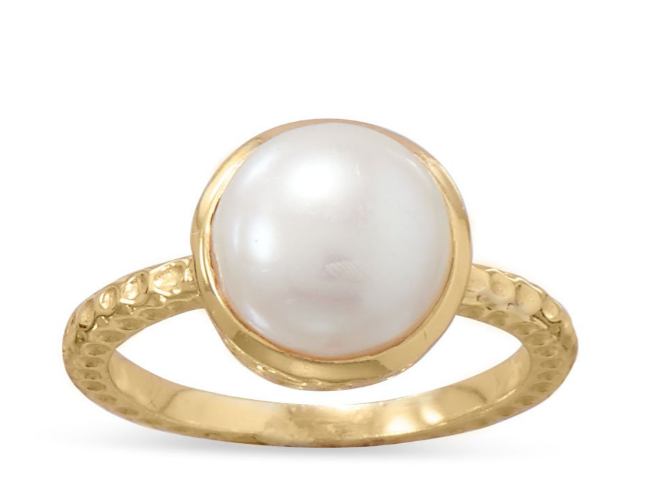 Gold Cultured Freshwater Pearl Ring