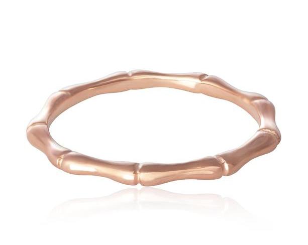 Rose Gold Bamboo Band Ring