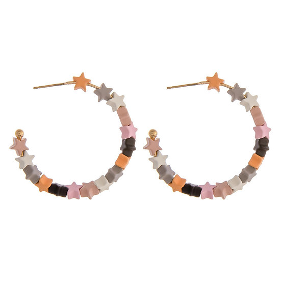 Hady Star Hoop Earrings