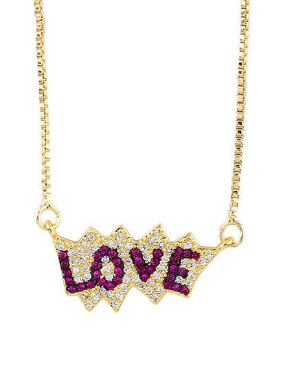 Pink Love Pendant Necklace