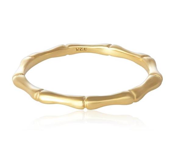 Gold Bamboo Band Ring