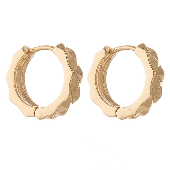 Finley Huggie Hoop Earrings