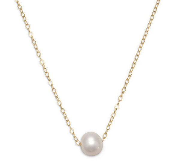 Floating Cultured Freshwater Pearl Gold-Filled Necklace
