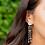 Thumbnail: Gold Rainbow Moonstone Post Earrings