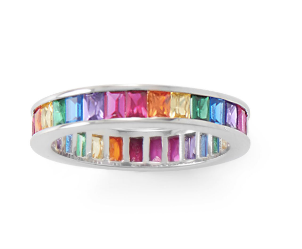 Rainbow Eternity Band Ring