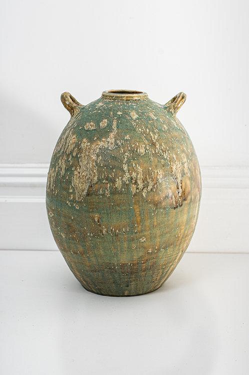 Large handled moon vase