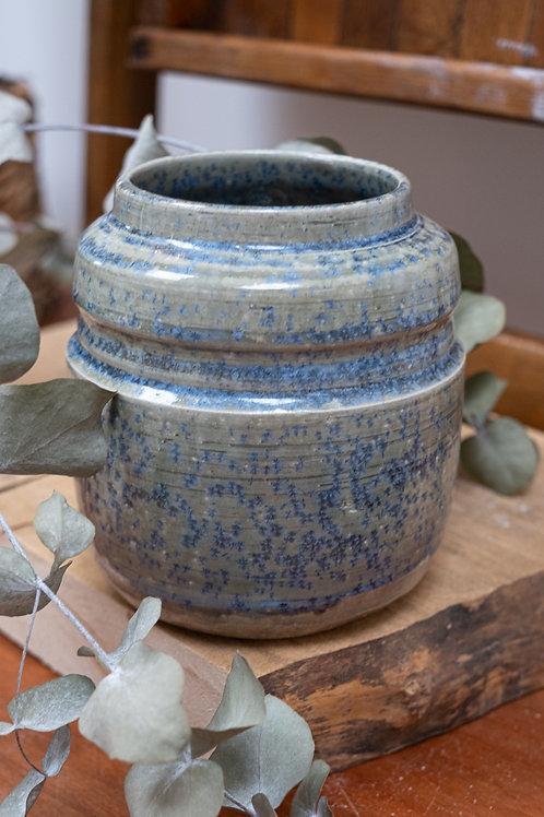 Crystalline blue glaze vase