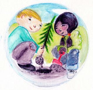 Earth Card Illustration - 'Plant'