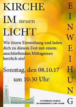Flyer Einweihung Freikirche Overath neu