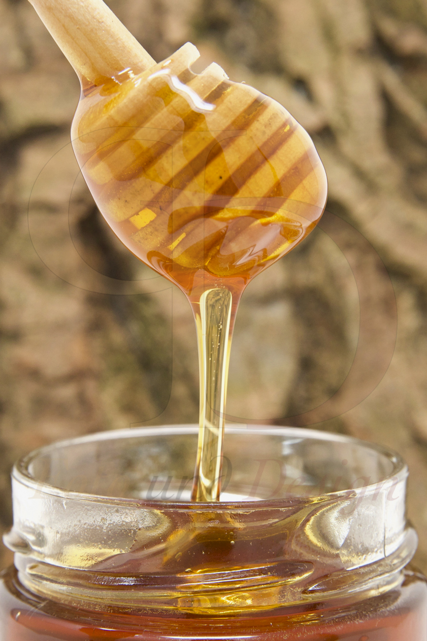 Fließender Honig Produktfoto