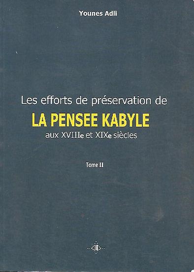 Efforts de préservation de La pensée Kabyle Tome 2