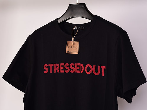 STRESSED OUT Black Unisex Tee