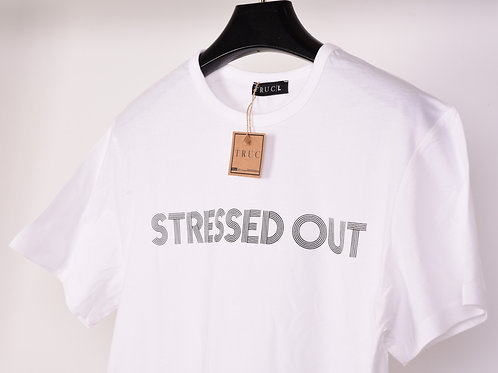 STRESSED OUT White Unisex Tee