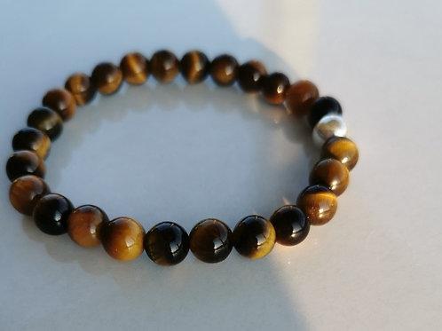 Bracelet oeil-de-tigre homme