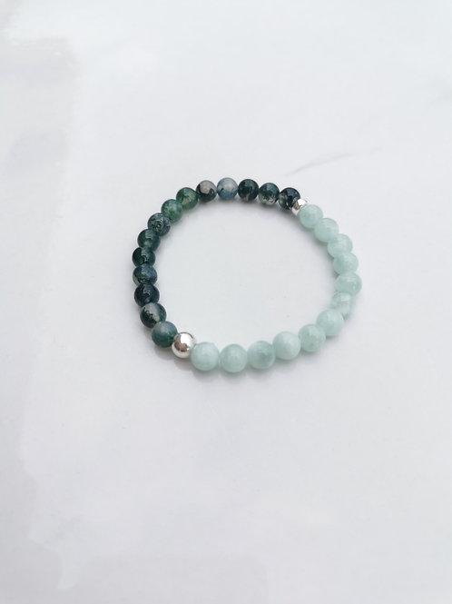 Bracelet nuance de verts