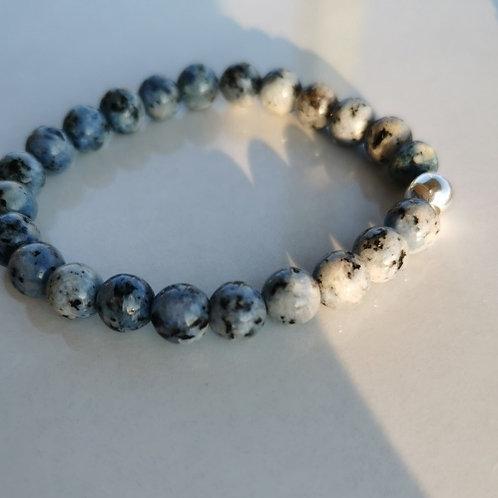 Bracelet jade bleu noir homme