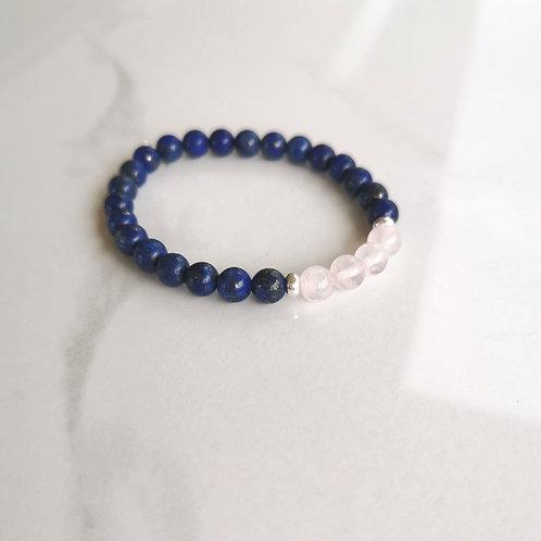 Lapiz+Quartz rose bracelet