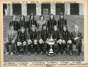 1st XI Soccer  1973-74 - Devon Schools C