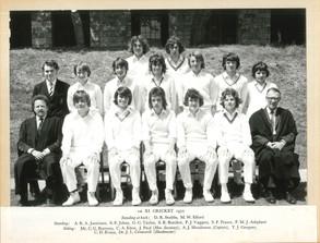 1st XI Cricket 1972