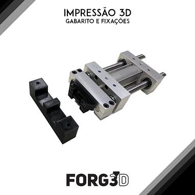 Impressão 3D de gabaritos e fixadores