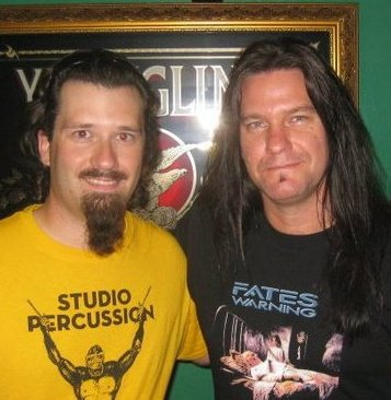 Tobin with Shawn Drover (Megadeth)