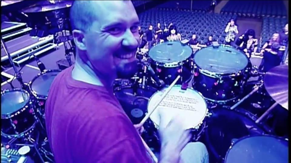 Tobin on KISS' Drum Set