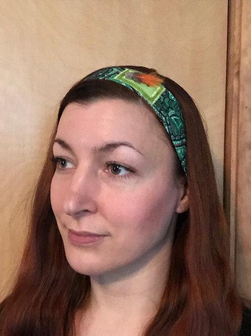 Kennebago Muddler Fly Headband green/orange