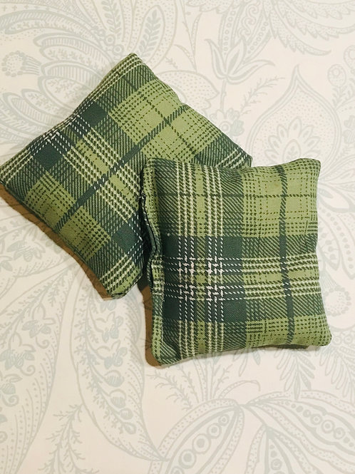 Hand Warmers Green Plaid (set of 2)
