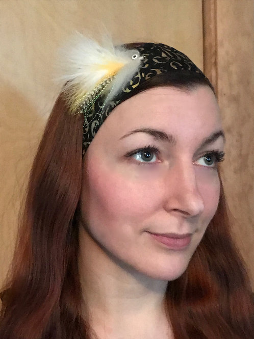 Large Yellow Salmon Fly Headband