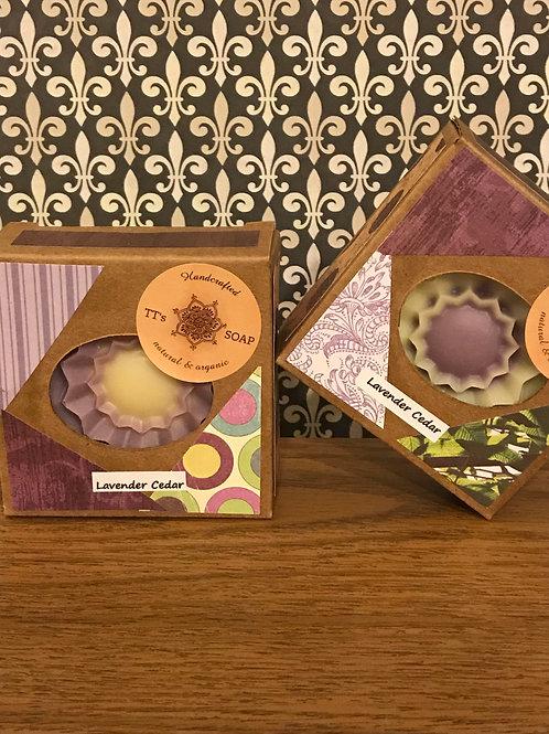 Lavender Cedar Soap Flower