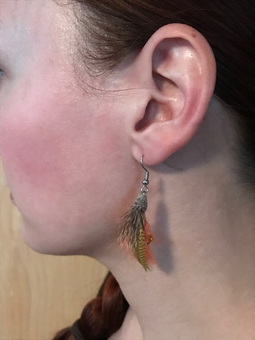 Kennebago Muddler Fly Earrings