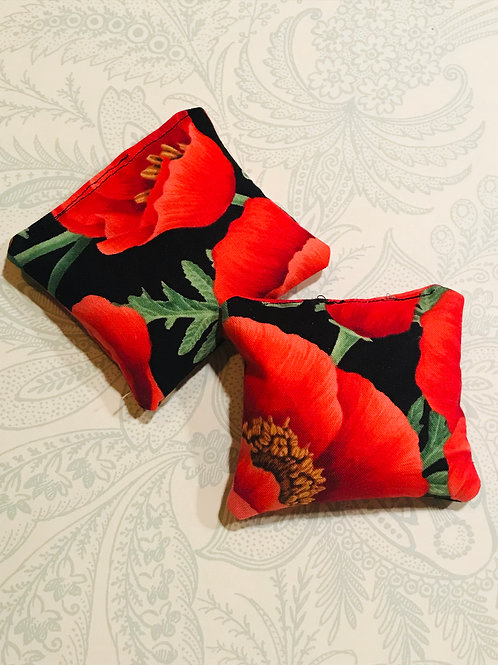 Hand Warmers Poppy Flower (set of2)