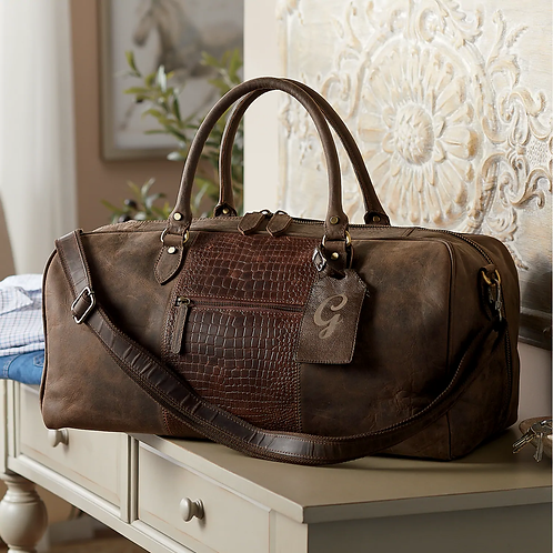 Leather oil distress large Duffel