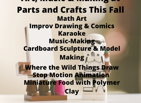 Art, Music & Making at Parts and Crafts this Fall