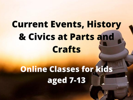 Current Events & History at Parts and Crafts this fall