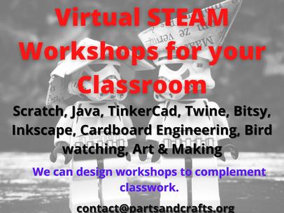 Virtual STEAM Workshops for you Program