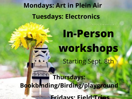 In Person Workshops and Meetups this Fall!