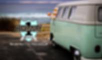 Westfalia camper van at the Beach