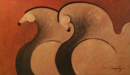 Horse Painting - Bernardo Nieves - Caballos