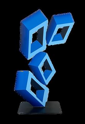 Daniel Sanseviero_4 Blue Cubes Sculpture