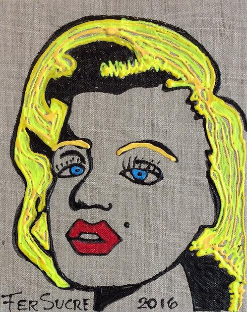 Pop Art Painting - Fer Sucre - Monroe