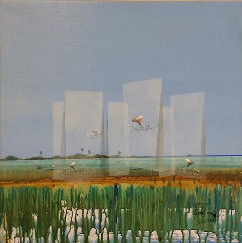 Surrealism Painting - Jose Cordova - Camino a Barcelona