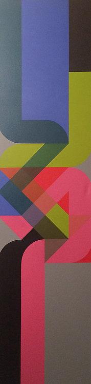 Hard Edge Painting - Esteban Castillo - Construccion Programada 805