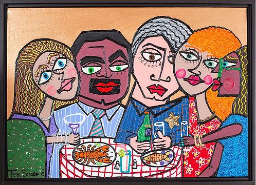 Pop Art Painting - Fer Sucre - Cinco Amigos