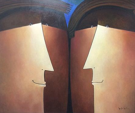 Realism Painting - Virgilio Arrieta - Enamoraditos