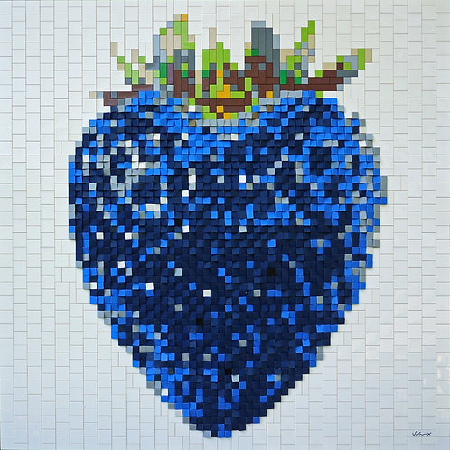 Dark Blue Strawberry by Andre Veloux