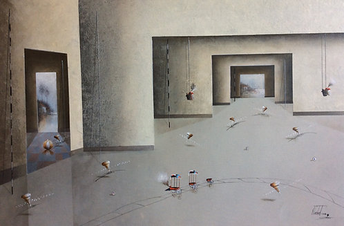 Surrealism Painting - Jose Cordova - Paso Gris
