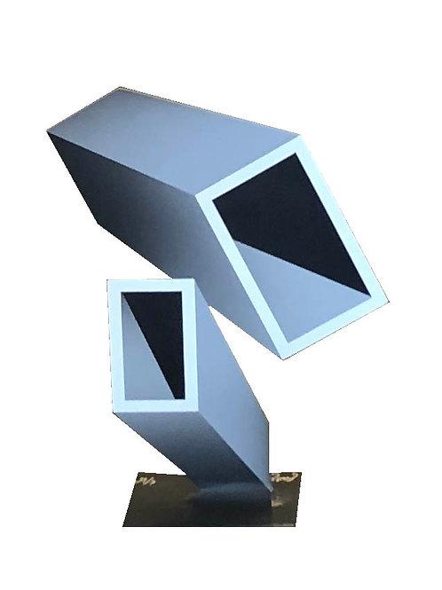 Two Elongated Gray Boxes by Daniel Sanseviero