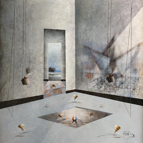 Surrealism Painting - Jose Cordova - Sueño de Pesca