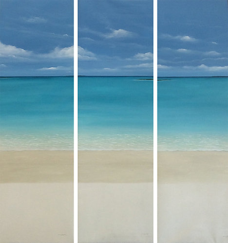 Beach Painting - Clelia Benitez - Ventana al Mar